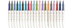 Shikiori Calligraphy Brushpen - Confezione 20 Colori