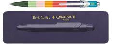 Caran d'Ache 849 Paul Smith Edition - Penna a Sfera in alluminio - Custodia Damson