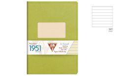 Clairefontaine 1951 Quaderno Spillato - Rigo - Colore Verde