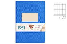 Clairefontaine 1951 Quaderno Spillato - Quadretto - Colore Blu