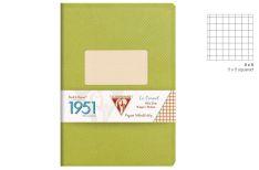 Clairefontaine 1951 Quaderno Spillato - Quadretto - Colore Verde