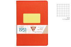 Clairefontaine 1951 Quaderno Spillato - Quadretto - Colore Rosso Corallo