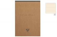 Clairefontaine Flying Spirit Blocco Appunti 140 pagine Tessuto in testa - Rigo - Kraft