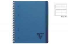 Clairefontaine Linicolor Evolutiv Book - Quaderno a spirale - Rigo - Blu A4+
