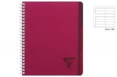 Clairefontaine Linicolor Evolutiv Book - Quaderno a spirale - Rigo - Fucsia A4+