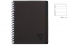 Clairefontaine Linicolor Evolutiv Book - Quaderno a spirale - Rigo - Nero A4+