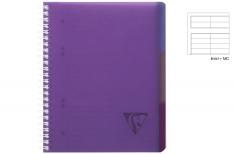 Clairefontaine Linicolor Evolutiv Book - Quaderno a spirale - Viola - A4+