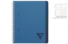 Clairefontaine Linicolor Evolutiv Book - Quaderno a spirale - Qadretto - Blu A4+