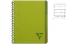 Clairefontaine Linicolor Evolutiv Book - Quaderno a spirale - Qadretto - verde A4+