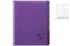 Clairefontaine Linicolor Evolutiv Book - Quaderno a spirale - Qadretto - Viola A4+