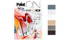 Clairefontaine PaintOn - Blocco da disegno incollato con 5 colori assortiti