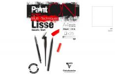 Clairefontaine Paint On Lisse - Blocco da disegno bianco liscio multitecnica
