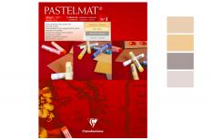 Clairefontaine Pastelmat - Blocco da disegno incollato con 4 colori assortiti