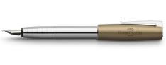 Faber Castell Loom Metallic - Penna Stilografica - Fusto cromato Lucido - Olive