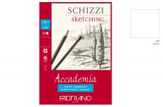 Fabriano Accademia - Blocco per schizzi - Carta bianca per matita e carboncino - 120 gr