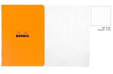 Rhodia Quaderno spillato Classic - Quadretto - Orange Black White