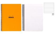 Rhodia Notebook con Spirale Laterale - Rigo - Black Orange White - A5+