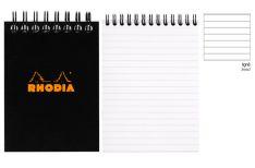 Rhodia Notepad con Spirale Alta - Rigo - Black Orange