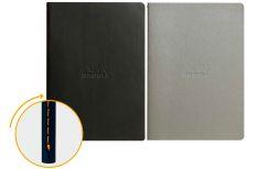 Rhodia Quaderno Rilegato Ewn Spine Notebooks Nero o Grigio