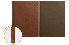 Rhodia Quaderno Rilegato Ewn Spine Notebooks Cioccolato o Talpa